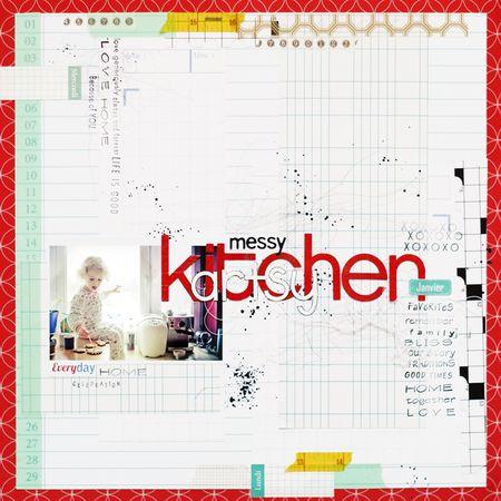 Messy, artsy kitchen